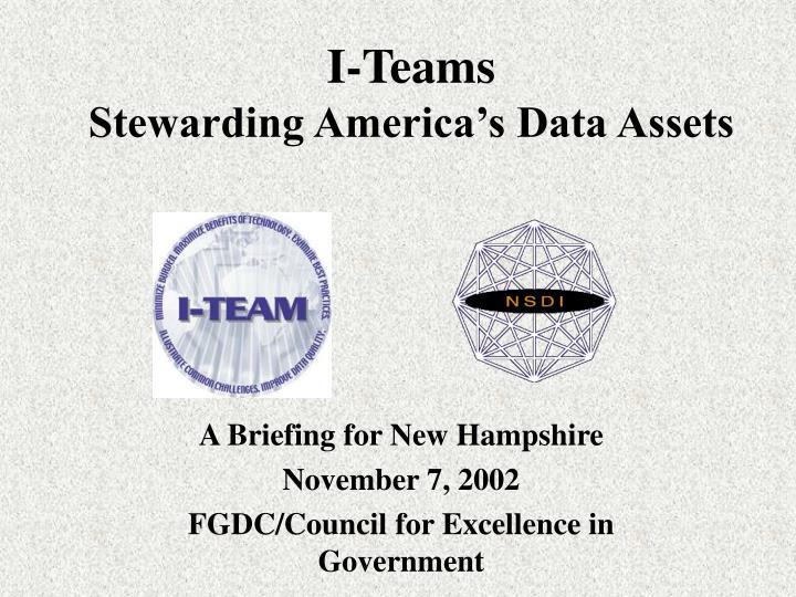 I teams stewarding america s data assets