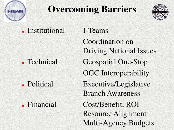Overcoming Barriers