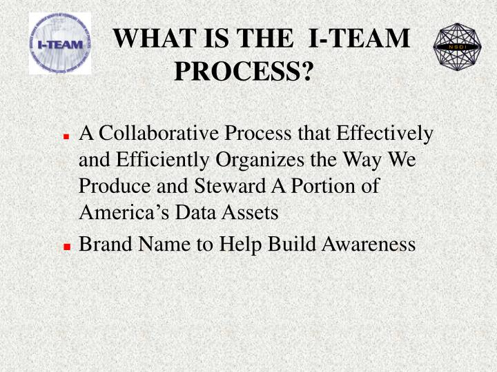 WHAT IS THE  I-TEAM PROCESS?