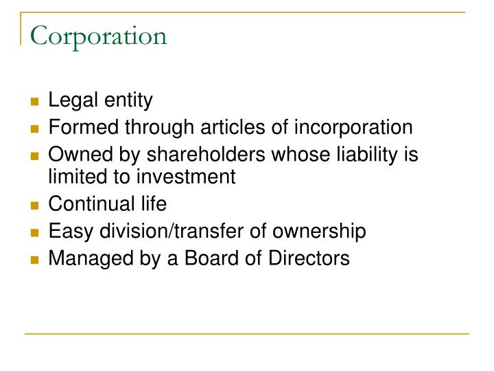 Corporation