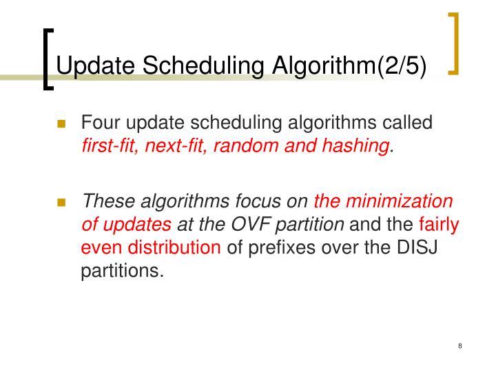 Update Scheduling Algorithm(2/5)