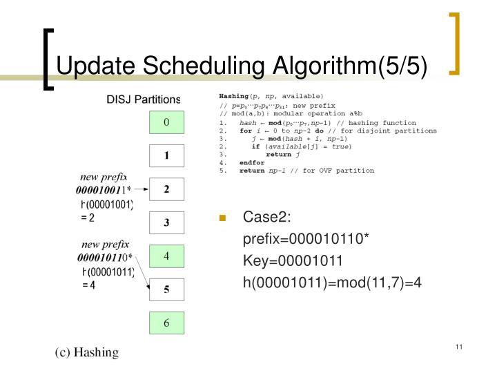 Update Scheduling Algorithm(5/5)