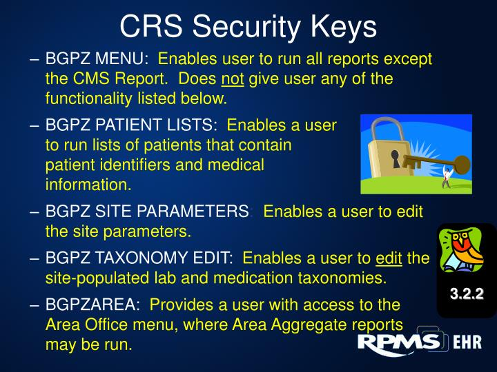 CRS Security Keys