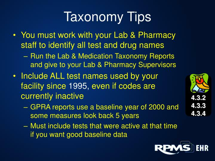 Taxonomy Tips