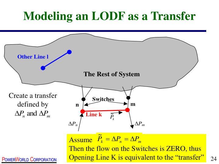Modeling an LODF as a Transfer