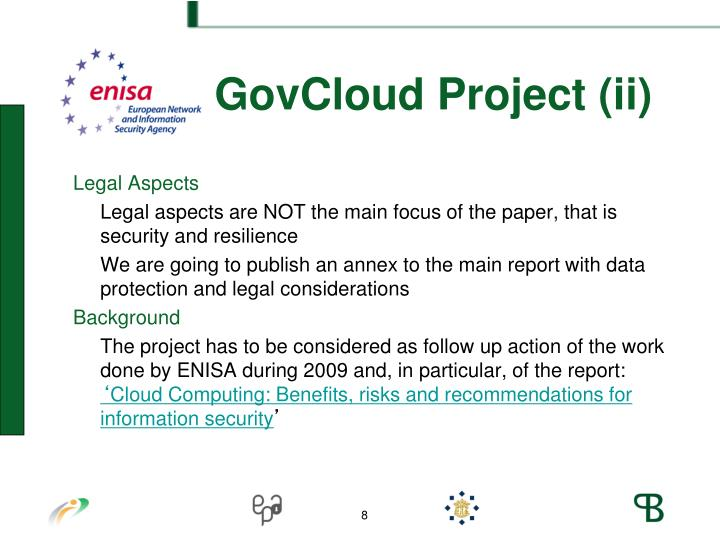 ENISA GovCloud Project (ii)
