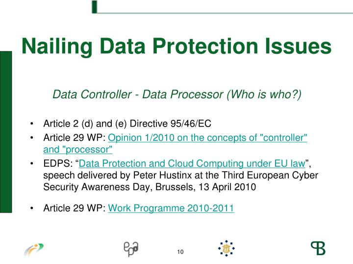 Nailing Data Protection Issues