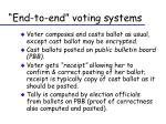 end to end voting systems