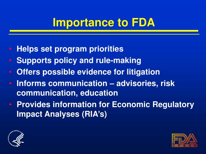 Importance to fda