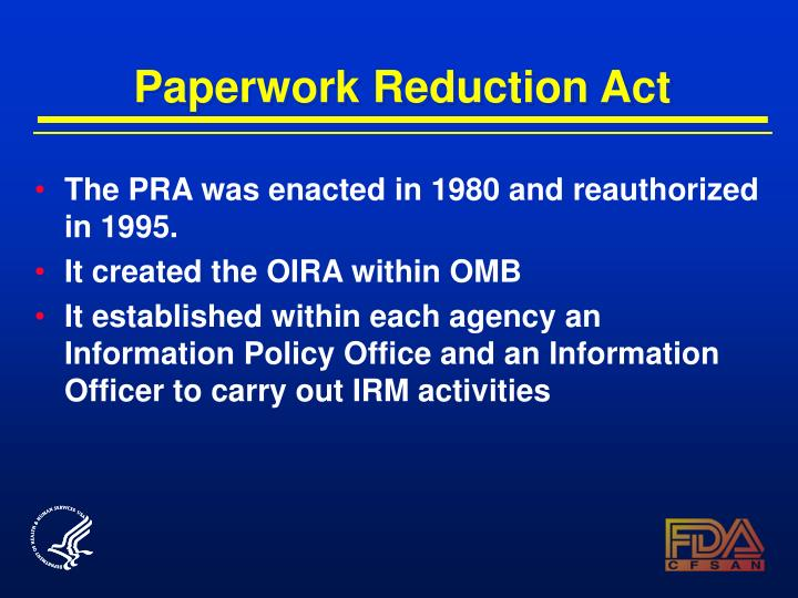 Paperwork Reduction Act