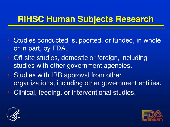 RIHSC Human Subjects Research