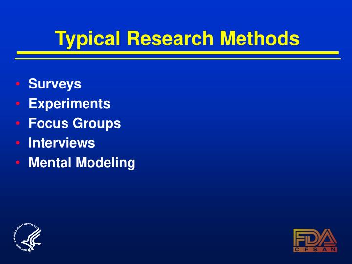 Typical Research Methods