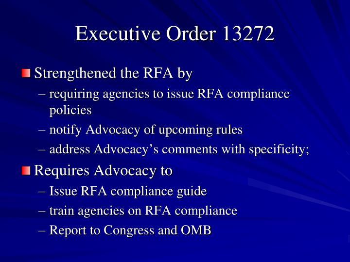 Executive Order 13272