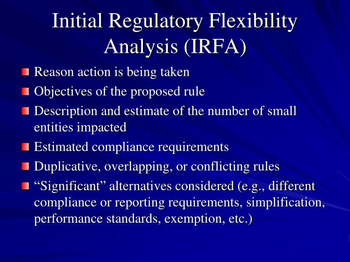 Initial Regulatory Flexibility Analysis (IRFA)