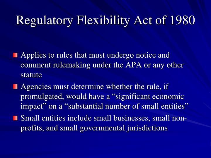 Regulatory Flexibility Act of 1980