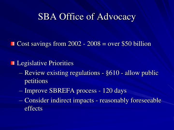 SBA Office of Advocacy