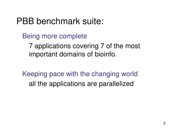 PBB benchmark suite: