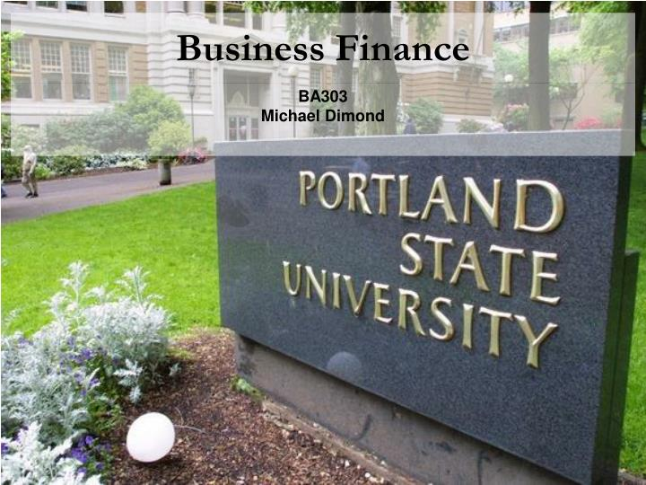 business finance n.