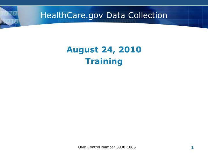 Healthcare gov data collection