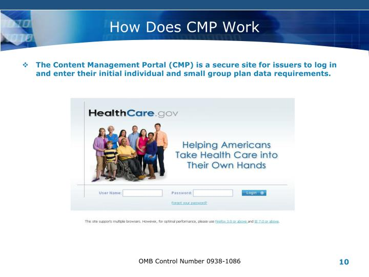How Does CMP Work