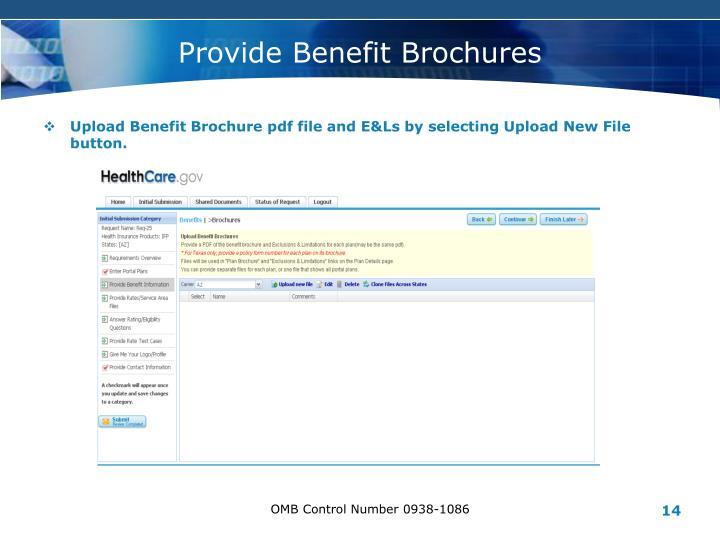Provide Benefit Brochures