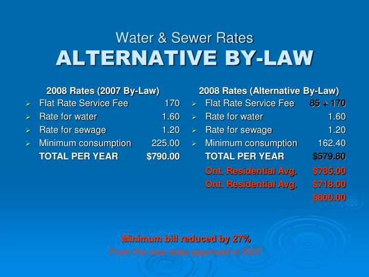 Water & Sewer Rates