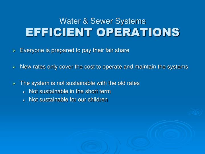 Water & Sewer Systems