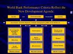 world bank performance criteria reflect the new development agenda