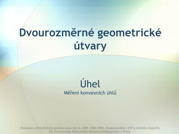 dvourozm rn geometrick tvary n.