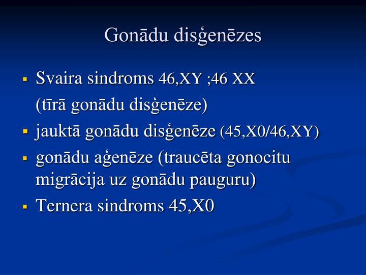 Gonādu disģenēzes