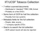 iit ucsf tobacco collection