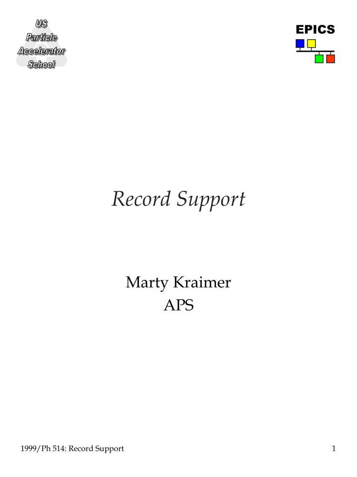 record support n.