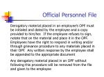 official personnel file1
