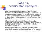 who is a confidential employee