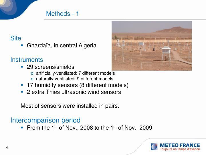 Methods - 1