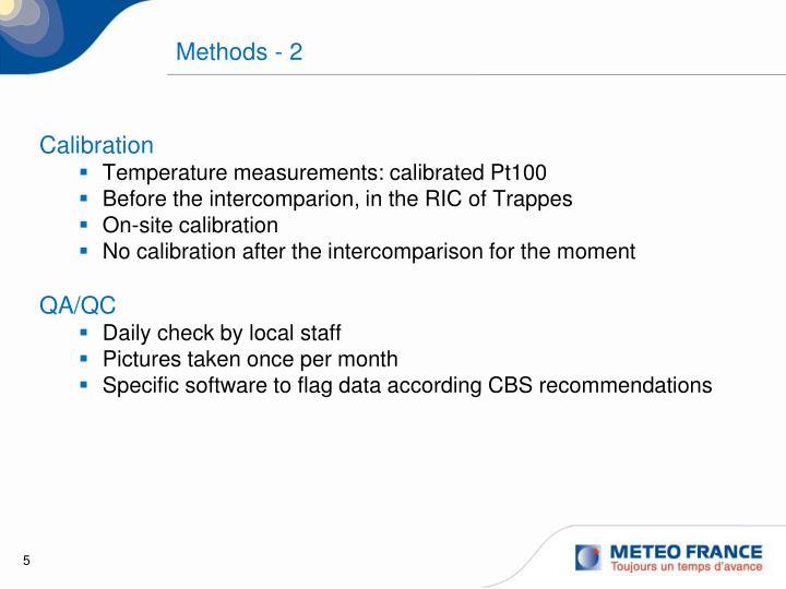 Methods - 2