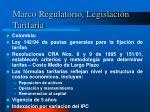 marco regulatorio legislaci n tarifaria2