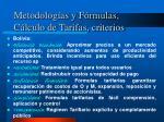 metodolog as y f rmulas c lculo de tarifas criterios