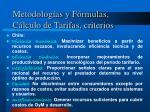 metodolog as y f rmulas c lculo de tarifas criterios1
