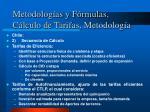 metodolog as y f rmulas c lculo de tarifas metodolog a3