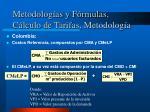 metodolog as y f rmulas c lculo de tarifas metodolog a6