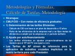 metodolog as y f rmulas c lculo de tarifas metodolog a7