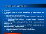subsidios cruzados