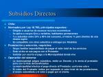 subsidios directos