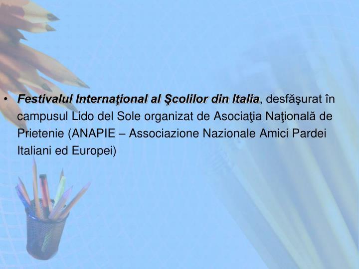 Festivalul Internaţional al Şcolilor din Italia