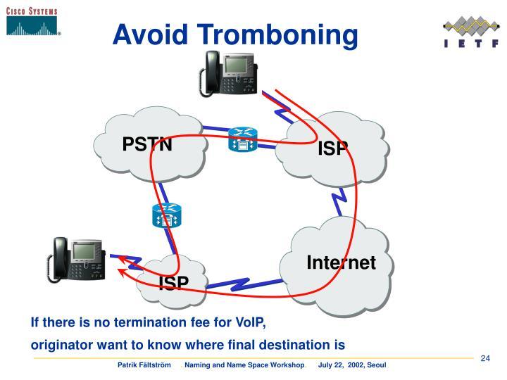 Avoid Tromboning