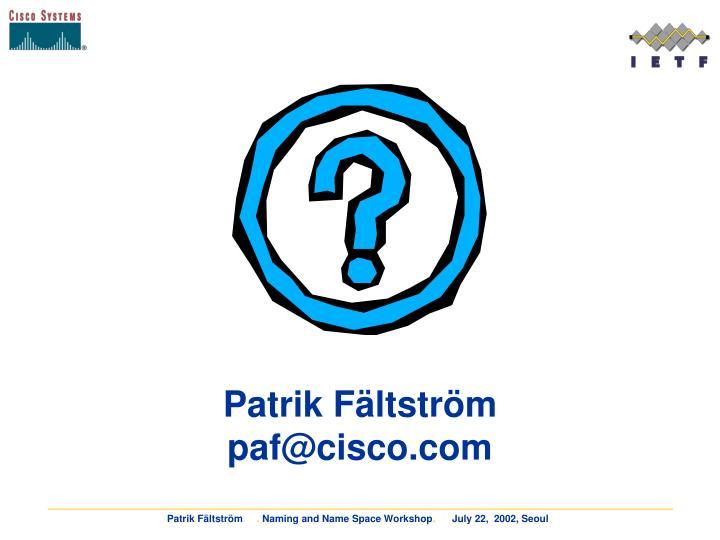 Patrik Fältström