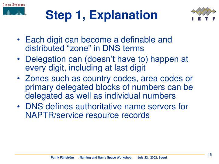 Step 1, Explanation