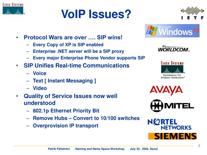 VoIP Issues?