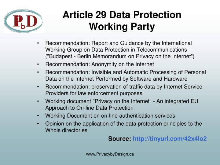 Article 29 Data Protection